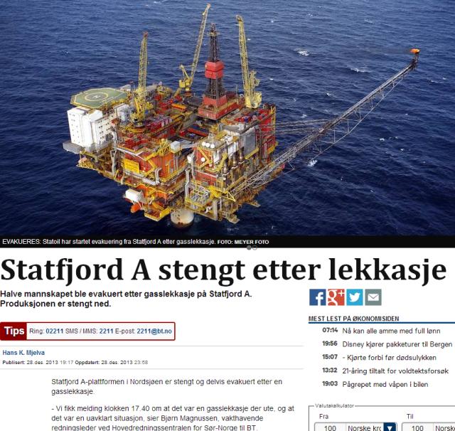 Evakuering Statfjord A