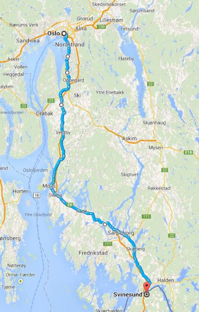 Oslo - Svinesund - Sykkelrute