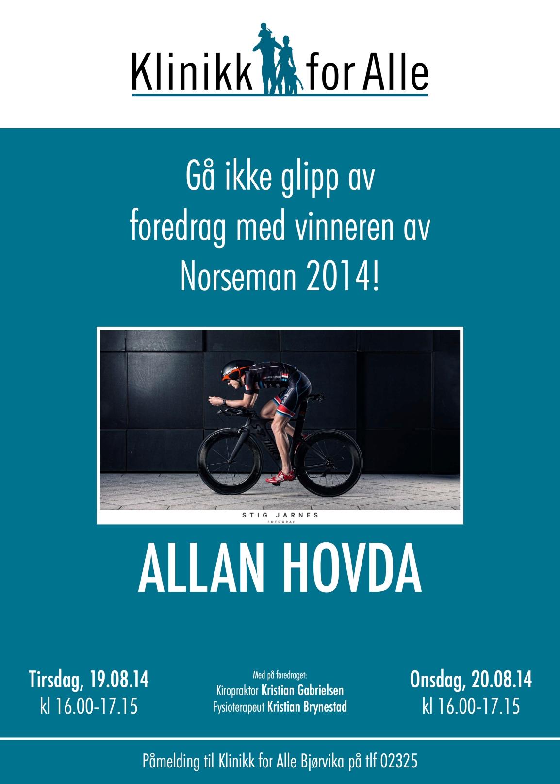 Klinikk for alle - Foredrag - Allan Hovda - Norseman 2014