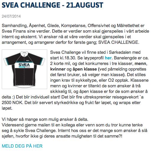Svea Challenge - Triallan