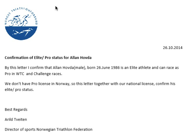 Going PRO - Allan Hovda