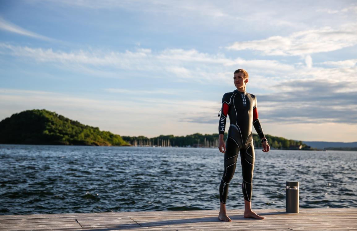 Open water svømming med Knut Ivan ogAllan