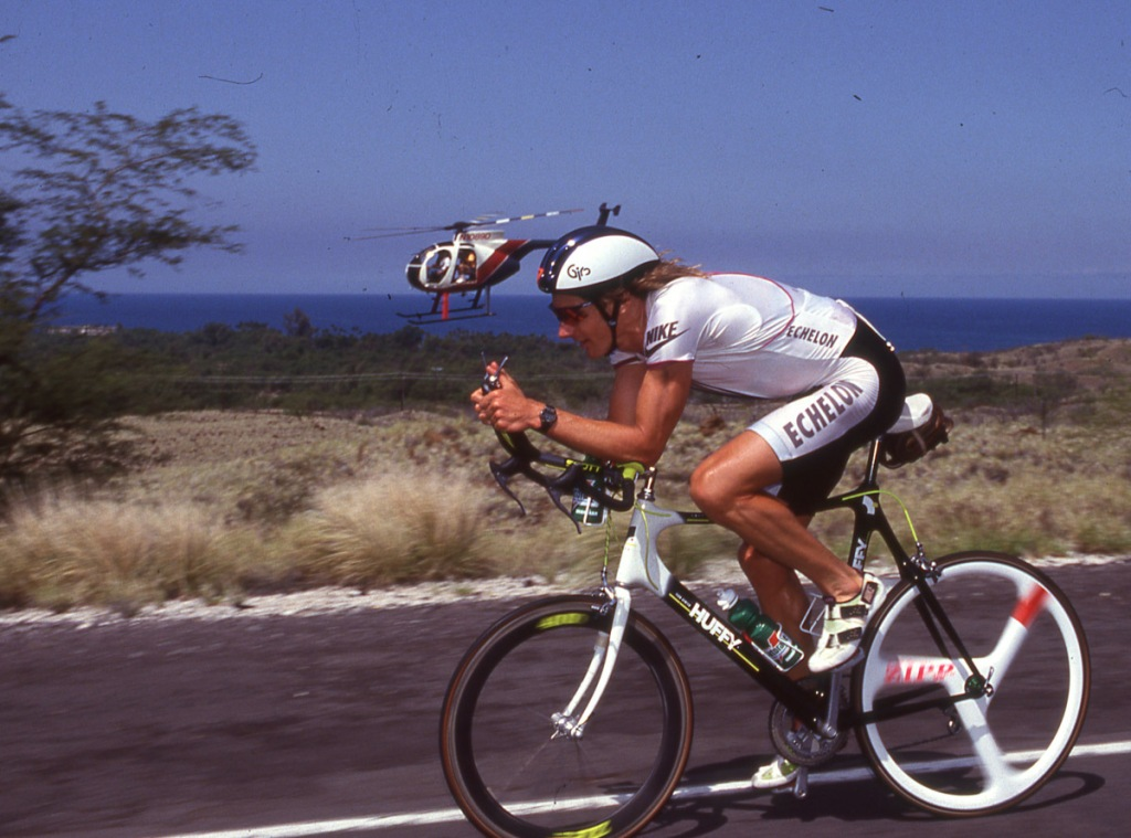 Mark Allen - Ironman Hawaii 1991 - Old School triathlon bike