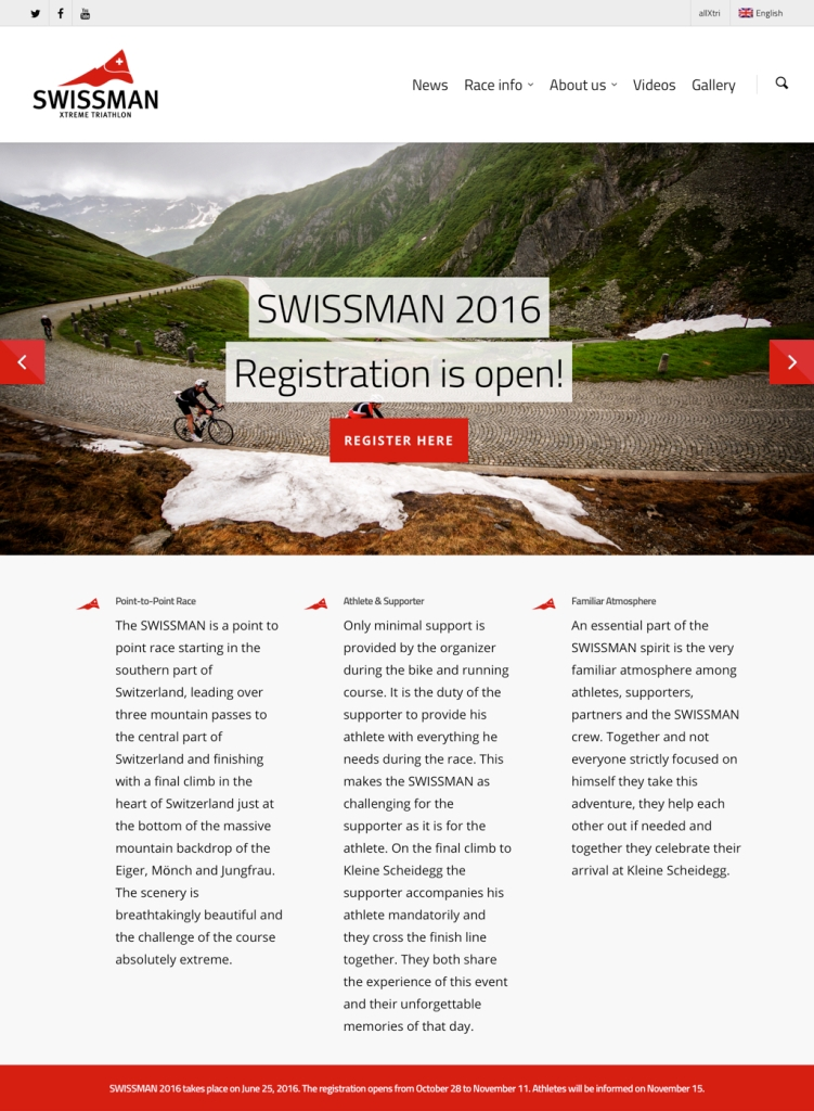 Swissman hjemmeside