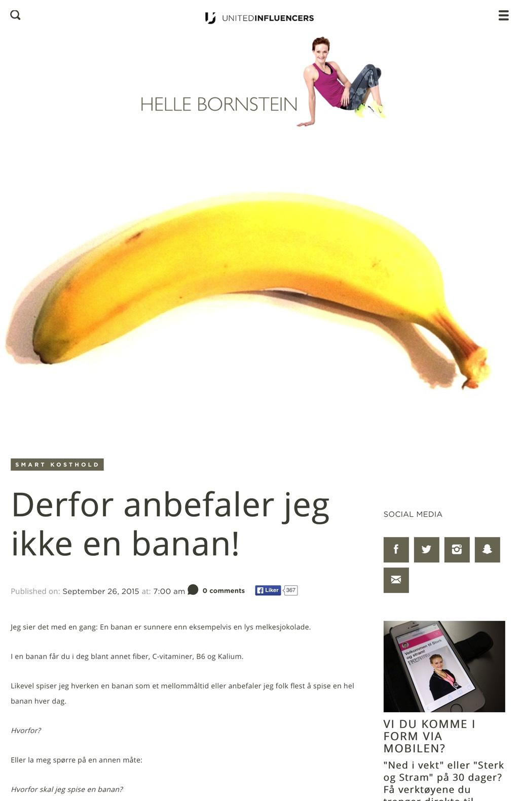 Helle bornstein banan