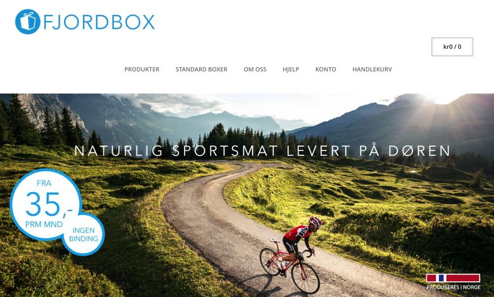 Samarbeidsavtale med Fjordbox – naturlig og enkeltsportsmat