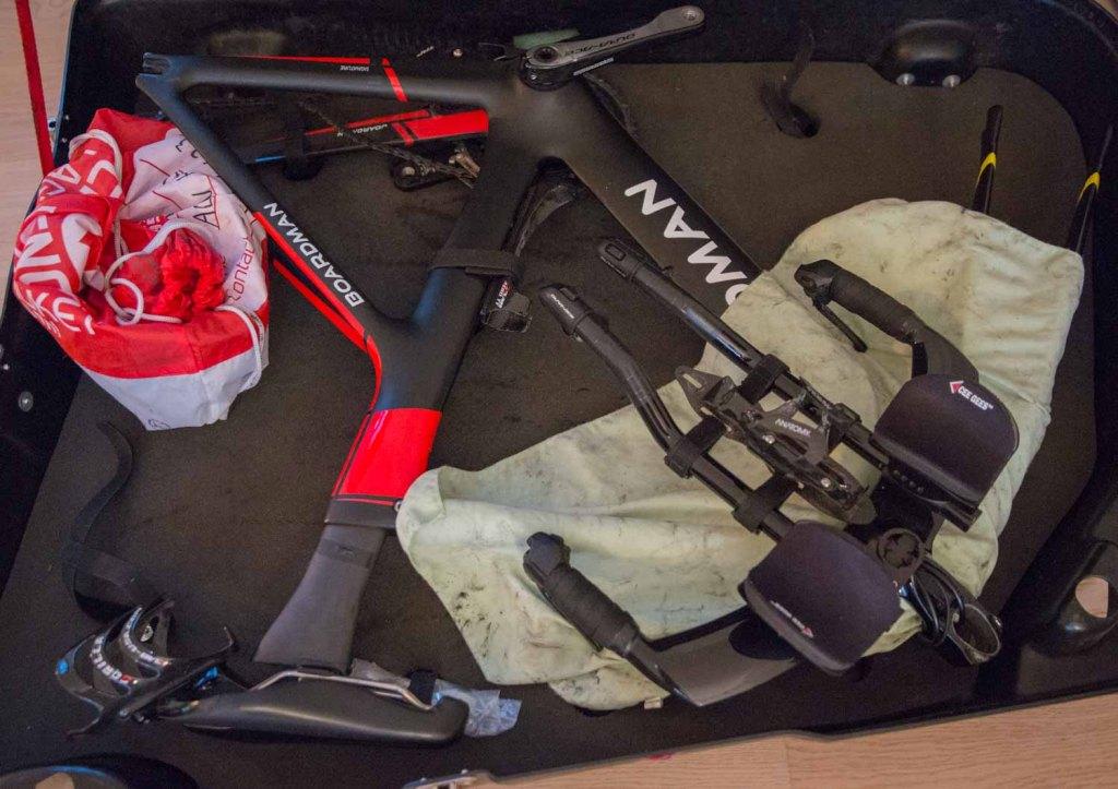 traveling triathlete part bicycle suitcase