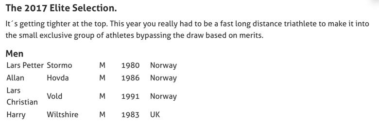 Tidenes sterkeste startfelt i Norseman2017?