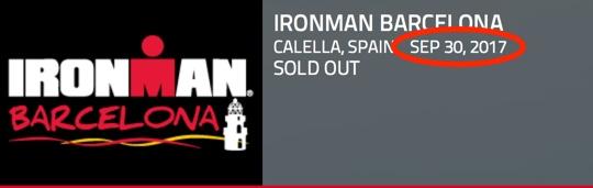 Klar for Ironman Barcelona påsøndag??