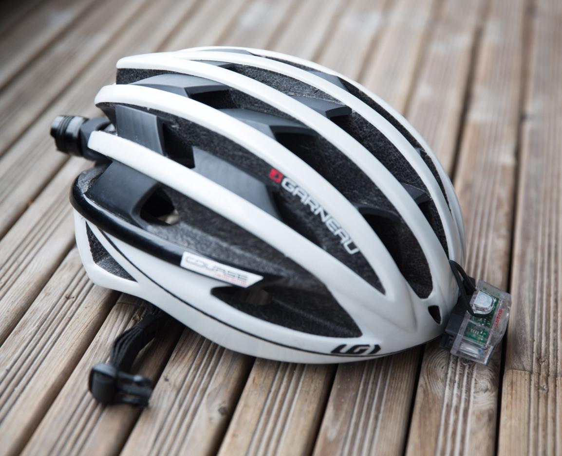 lys til sykkel, sykkelhjelm, bli sett i mørke - triallan.com